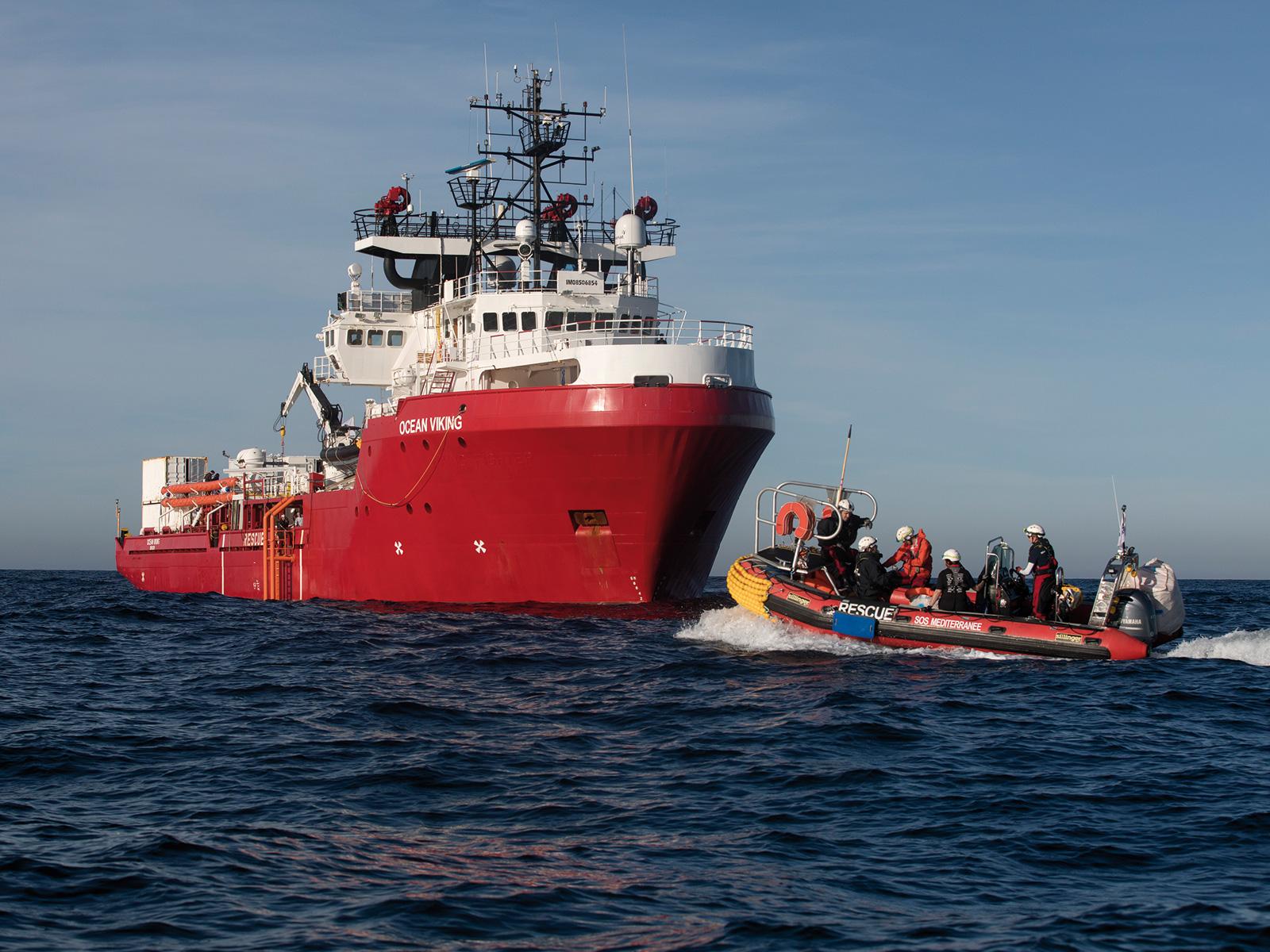 Fartyget Ocean Viking till havs.
